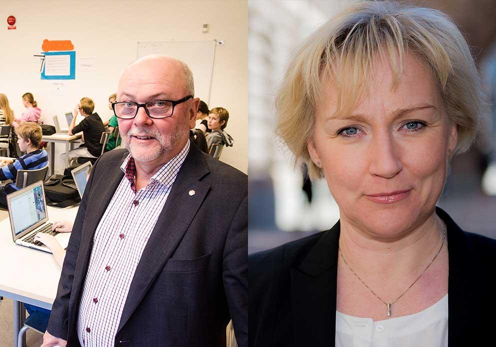 Thomas Strand och Helene Hellmark Knutsson