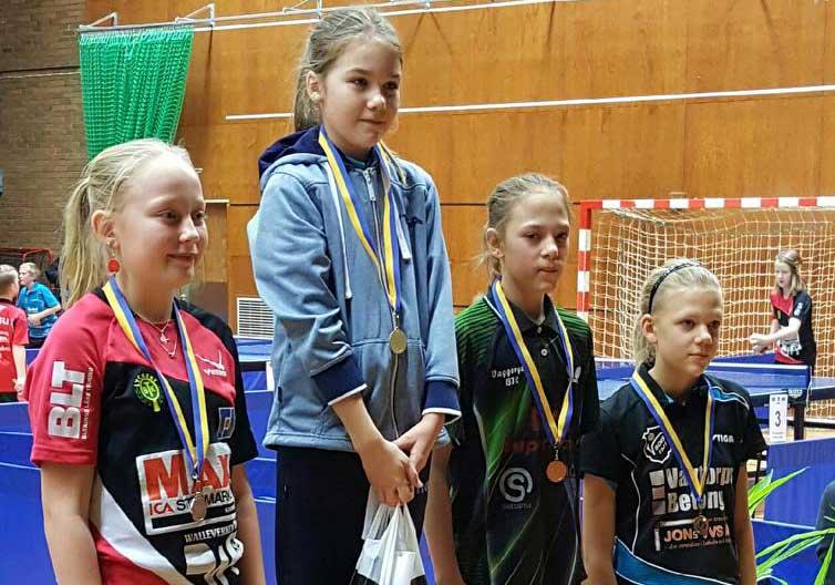 Amanda Taus, trea från vänster